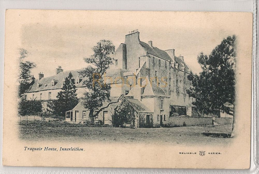 Scotland: Borders, Peeblesshire. Traquair House, Innerleithen. Early 1900s Postcard