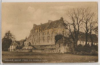 Scotland: Borders, Peeblesshire. Traquair House From N.E., Innerleithen. 1920s Photo Postcard.