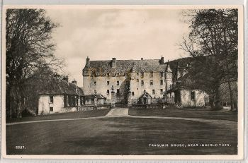 Scotland: Borders. Traquair House Near Innerleithen. Real Photo Postcard