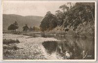 Scotland: Borders. Innerleithen Riverside View. 1930s Photo Postcard