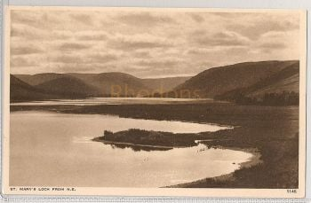 Scotland: Borders. St Marys Loch From North East. 1920s Photo Postcard