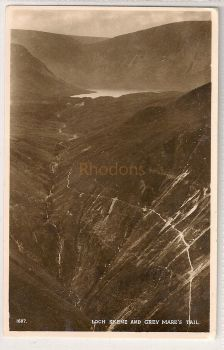 Scotland: Borders. Loch Skene And Grey Mares Tail. Real Photo Postcard