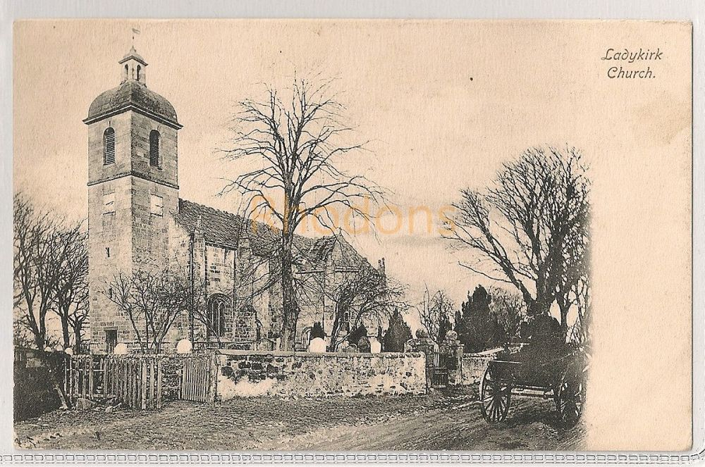 Scotland: Borders. Ladykirk Church, Ladykirk, Berwickshire. Early 1900s Photo Postcard