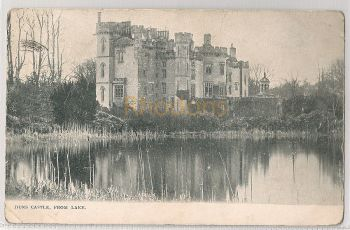 Scotland: Borders, Duns, Berwickshire,  Duns Castle From The Lake. Early 1900s Pictorial Postcard. | Recipient Family Name: Hendry