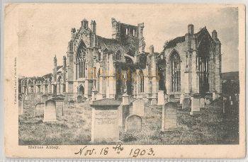 Scotland: Borders. Melrose Abbey. Early 1900s Valentines Land O' Scott Series Postcard
