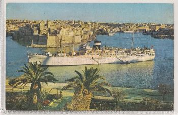 British India Steam Navigation Co , M.S 'Dunera'. Colour Postcard