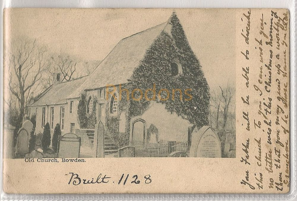 Scotland: Borders. The Old Church, Bowden, Roxburghshire. Early 1900s Postcard   Recipient Family Name: Cairns