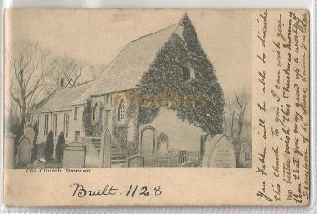 Scotland: Borders. The Old Church, Bowden, Roxburghshire. Early 1900s Postcard | Recipient Family Name: Cairns