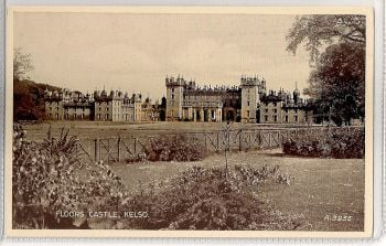 Scotland: Borders. Floors Castle, Kelso, Roxburghshire. Valentines 'Photo Type' Postcard