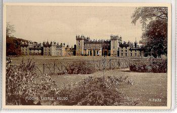 Scotland: Borders. Floors Castle, Kelso, Roxburghshire. Valentines 'Photo Type' Postcard