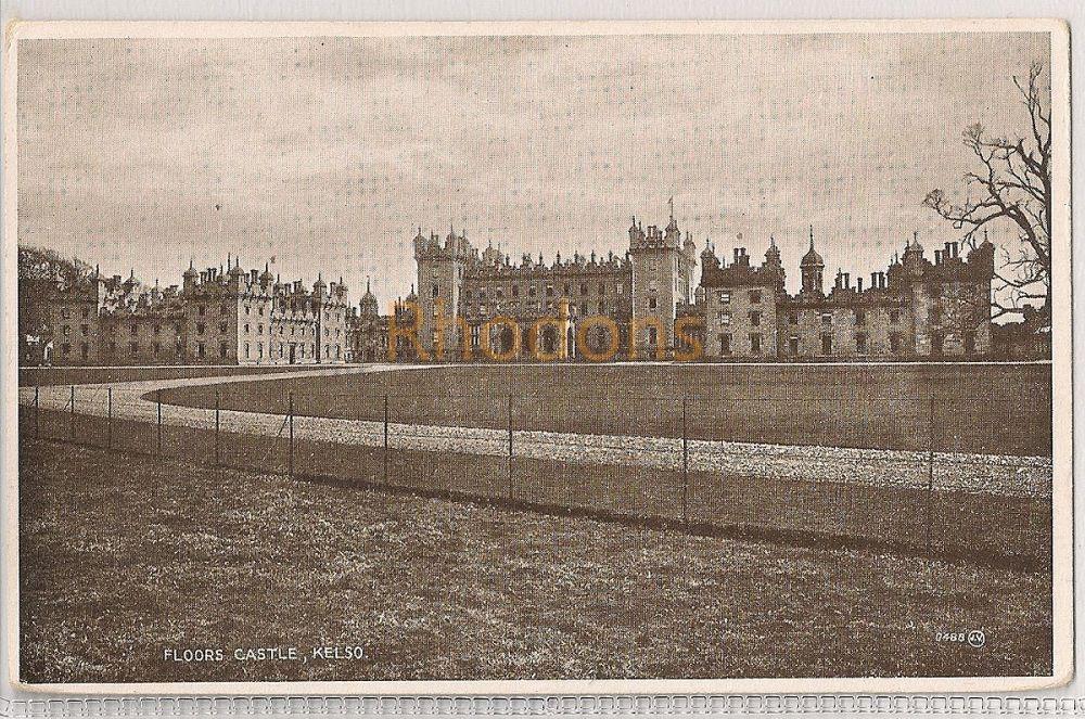 Scotland: Borders. Floors Castle, Kelso, Roxburghshire. Valentines 'Photo Brown' Postcard