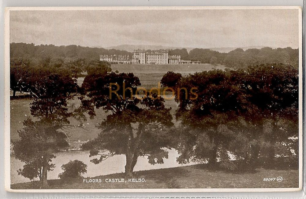 Scotland: Borders. Floors Castle, Kelso, Roxburghshire. Valentines 'Photo Brown' Postcard