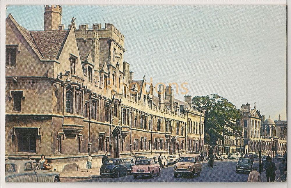 England: Oxford. All Souls College. Early 1960s Colour Postcard | Recipient Family Name: Creighton