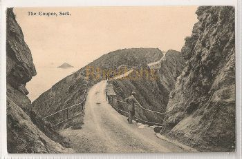 Channel Islands: Sark. The Coupee. Printed Photo Postcard (#1)