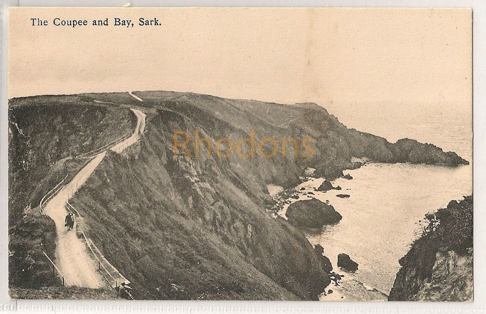 Channel Islands: Sark. The Coupee and Bay. Printed Photo Postcard (#2)