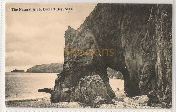 Channel Islands: Sark. The Natural Arch, Dixcart Bay. Printed Photo Postcard