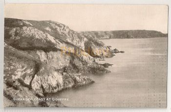 Channel Islands: Guernsey. Coast At Gouffre. Printed Photo Postcard