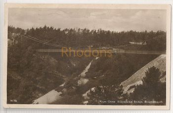 England: Dorset: Alum Chine Suspension Bridge, Bournemouth. RPPC  | Recipient Family Name: Hogwood