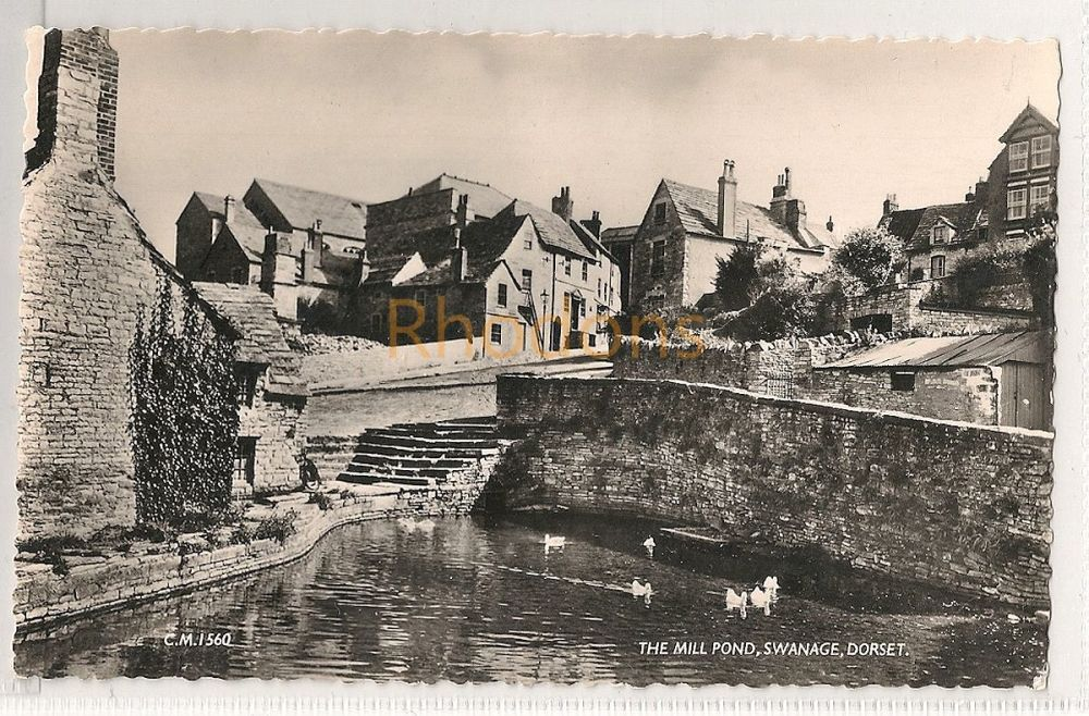England: Dorset. The Mill Pond, Swanage, Dorset. Real Photo