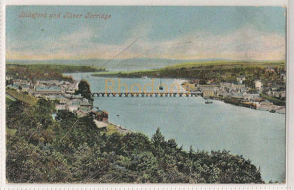England: Devon. Bideford and River Torridge Early 1900s Postcard | Recipient Family Name: Wiles