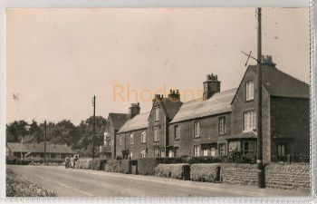 England: Northamptonshire. New Duston, Near Northampton.  Circa 1940s Street Scene. Real Photo Postcard | Recipient Family Name: Crawford