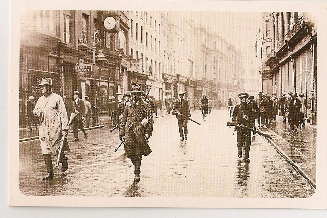 IRA March in Dublin July 1922. Nostalgia Reproduction Postcard