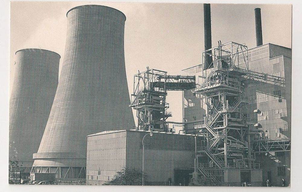 Calder Hall Power Station 1956. Nostalgia Reproduction Postcard