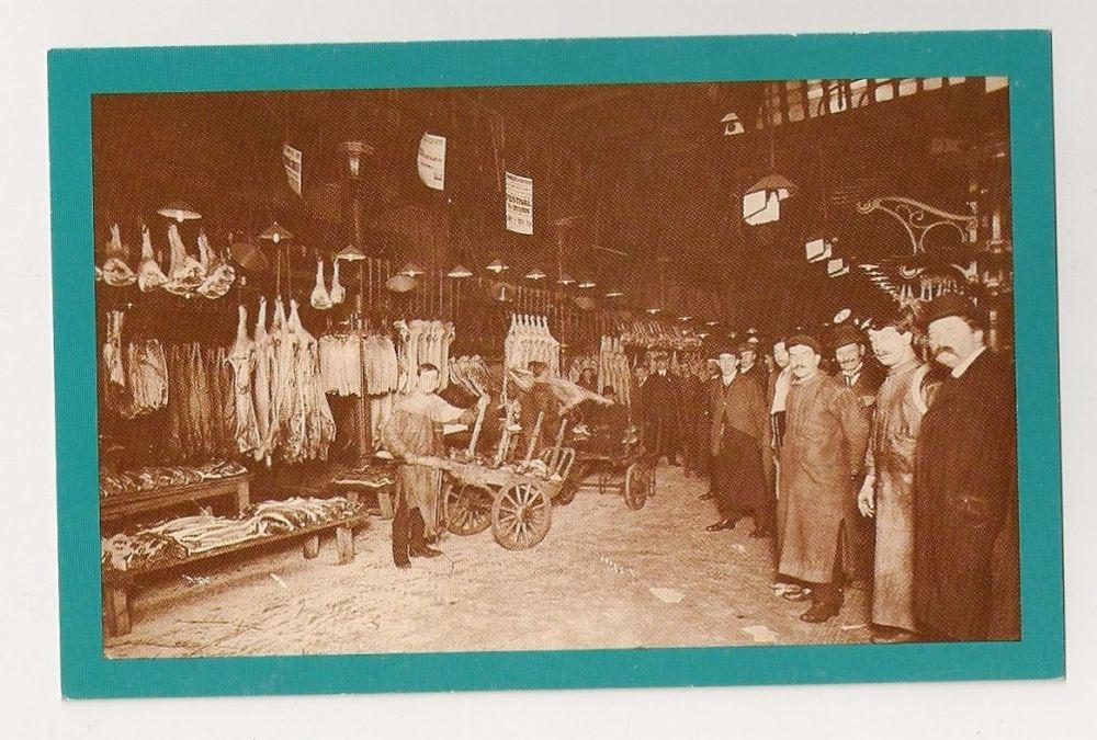 Smithfield Market, Circa 1912. Nostalgia Reproduction Postcard