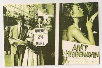 London: 1955 Cinema Goers Queue For Tickets. Nostalgia Reproduction Postcard