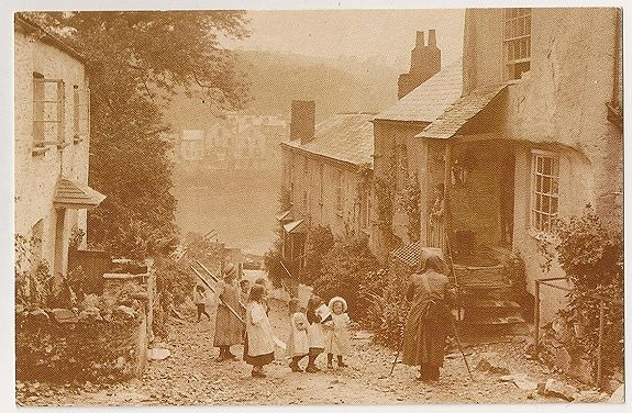 Cornwall: Bodinnick Street View, 1904. Nostalgia Reproduction Postcard