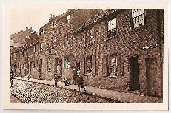 Nottingham: Woolleys Yard, 1933 Street View. Nostalgia Reproduction Postcard