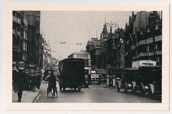 London: Holborn 1939 Street View. Nostalgia Reproduction Postcard