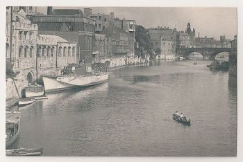 York: River Ouse From Lendal Bridge. Nostalgia Reproduction Postcard