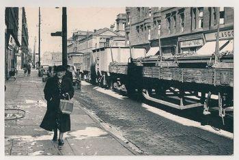 Glasgow: Dockland Street During The Glasgow Fair, 1954. Nostalgia Reproduction Postcard
