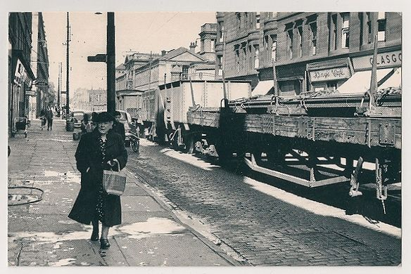 Glasgow: Dockland Street During The Glasgow Fair, 1954. Nostalgia Reproduction Postcard
