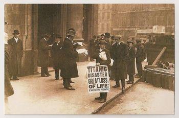 Sinking Of The Titanic April 1912. Nostalgia Reproduction Postcard