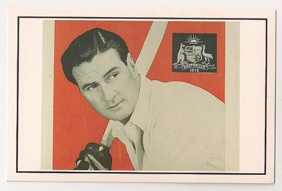 Neil Harvey Promotes Brylcreem, 1956. Nostalgia Reproduction Postcard