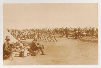 Boer War: Camp Of The First Coldstream Guards, 1900. Nostalgia Reproduction Postcard