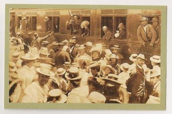 Boer War: Boer Soldiers Leave For The Front November 1899. Nostalgia Reproduction Postcard