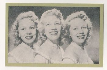 The Beverley Sisters, 1951. Nostalgia Reproduction Postcard