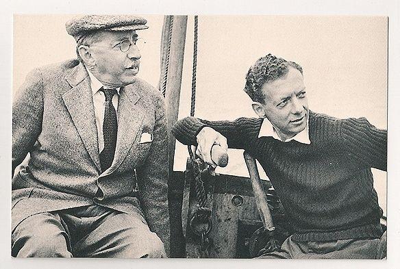 Benjamin Britten, 1950s. Nostalgia Reproduction Postcard