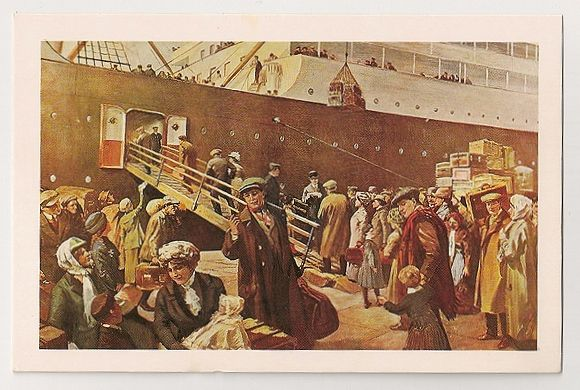 Go West Young Man! Painting By C Sheldon, 1913-14. Nostalgia Reproduction Postcard