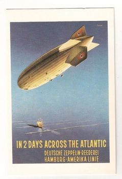 The Airship, Nostalgia Reproduction Postcard