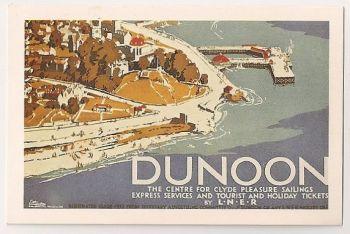 Dunoon LNER Advertising Poster. Nostalgia Reproduction Postcard