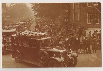 Funeral Of Campbell Black, 1936. Nostalgia Reproduction Postcard