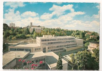 Lebanon: Beirut, Panoramic View Of The American University. Circa 1960s Colour Photo Postcard