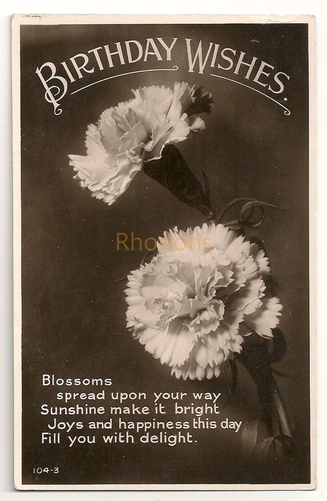 Family History Research Postcard:  Parker / Smith - Glasgow - 1932 | Birthday Greetings
