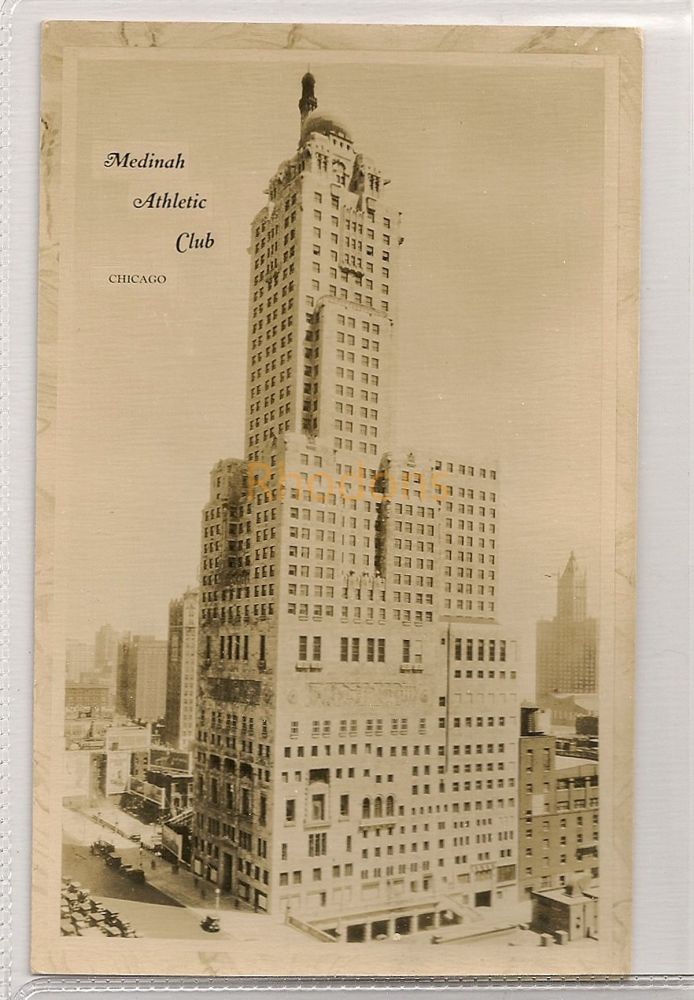 USA: Illinois. The Medinah Athletic Club, Chicago. Circa 1930s Real Photo Postcard