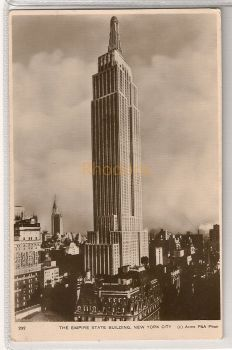 USA: New York. The Empire State Building, New York City. Circa 1930s Real Photo Postcard