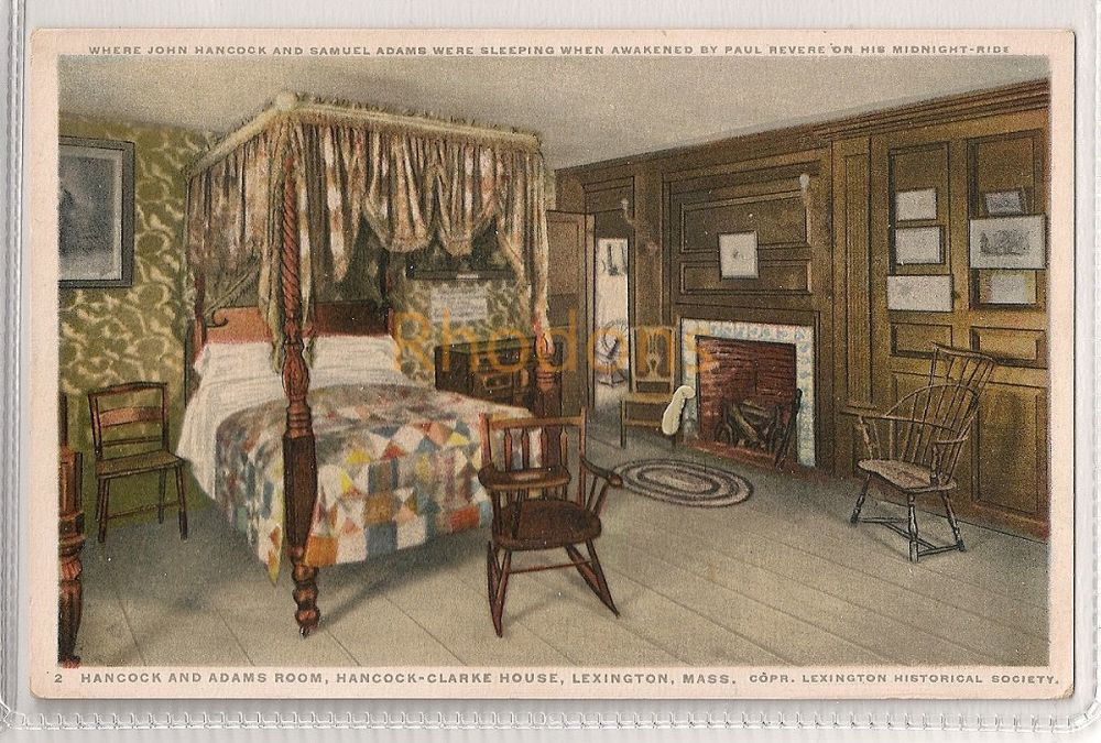 USA: Massachusetts. Hancock And Adams Room, Hancock-Clarke House, Lexington, MA. Early 1900s Postcard